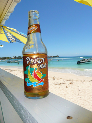 Shandy's ginger beer.